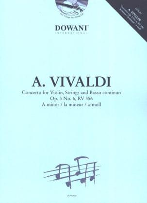 Concerto Op.3 N° 6 - Rv 356 En la Min. VIVALDI Partition laflutedepan