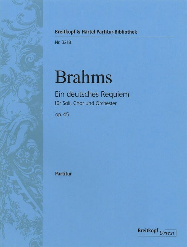 Un Requiem Allemand op. 45 - Conducteur - BRAHMS - laflutedepan.com