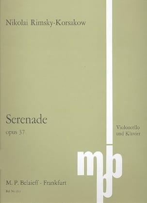 Sérénade op. 37 RIMSKY-KORSAKOV Partition Violoncelle - laflutedepan