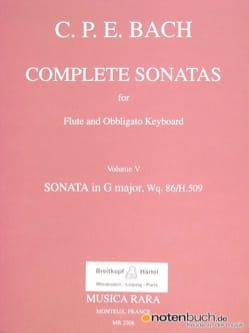 Complete sonatas - Volume 5 - Flute obblig. keyboard laflutedepan