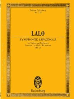 Symphonie Espagnole en Ré Mineur Op. 21 LALO Partition laflutedepan