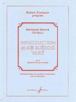 Introduction et Air Suédois Varié - Clarinette/Piano laflutedepan