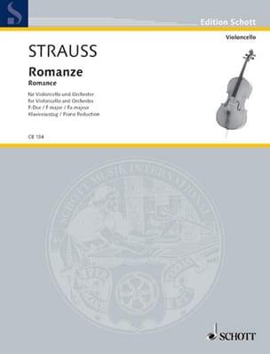 Romance en Fa Majeur Opus Av75 Richard Strauss Partition laflutedepan