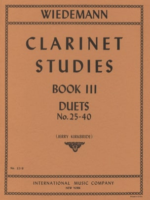 Clarinet Studies - Volume 3 Ludwig Wiedemann Partition laflutedepan