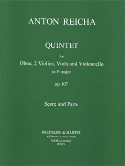 Quintet in F major op. 107 REICHA Partition Quintettes - laflutedepan