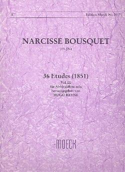 36 Etudes 1851 - Volume 3 Narcisse Bousquet Partition laflutedepan
