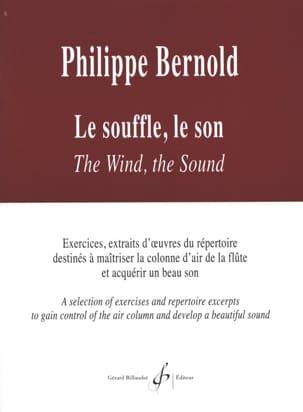 Le souffle Le son Philippe Bernold Partition laflutedepan