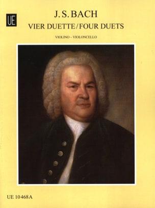 4 Duette - Violine Cello BACH Partition 0 - laflutedepan