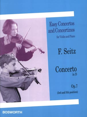 Concerto en Ré Opus 7 Friedrich Seitz Partition Violon - laflutedepan