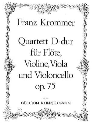 Quartett D-Dur op. 75 - Flöte Violine Viola Violoncello - Stimmen laflutedepan