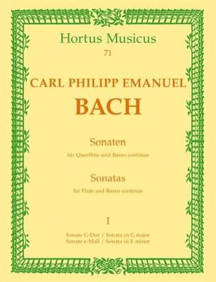 Sonaten - Bd. 1 - Flöte u. Bc Carl Philipp Emanuel Bach laflutedepan