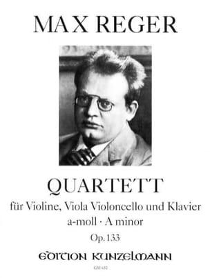 Quartett a-moll op. 133 - Stimmen Max Reger Partition laflutedepan