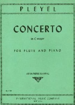 Concerto in C major - Flute piano Ignaz Pleyel Partition laflutedepan