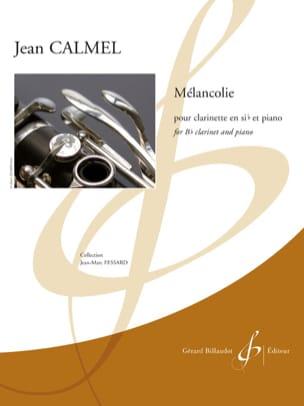 Mélancolie - Clarinette et piano Jean Calmel Partition laflutedepan