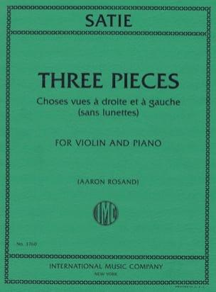 Erik Satie - 3 Pieces - Violin and Piano - Partition - di-arezzo.co.uk