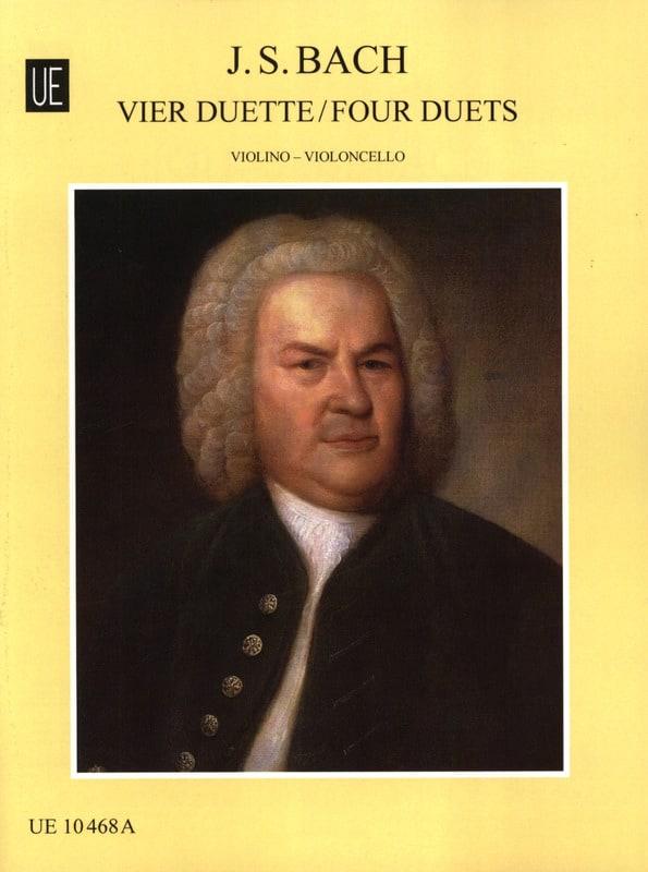 4 Duette - Violine Cello - BACH - Partition - 0 - laflutedepan.com