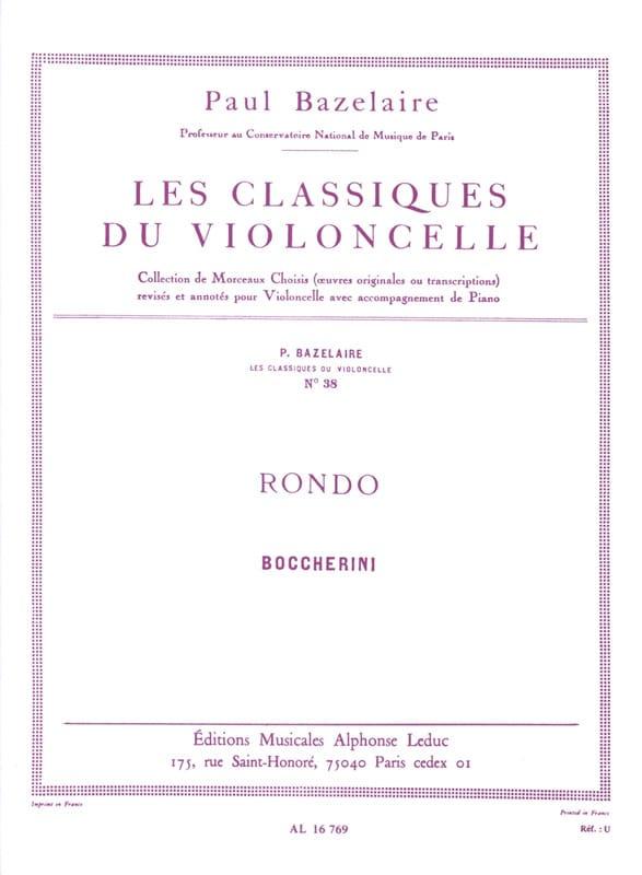 Rondo - BOCCHERINI - Partition - Violoncelle - laflutedepan.com