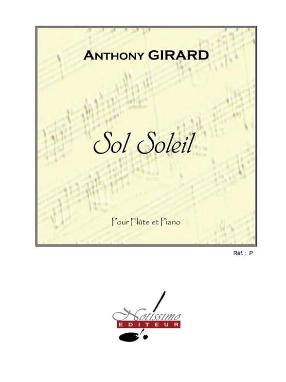 Sol Soleil - Anthony Girard - Partition - laflutedepan.com