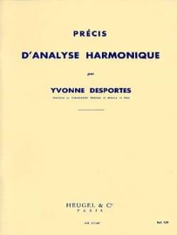 Yvonne Desportes - Précis d'analyse harmonique - Partition - di-arezzo.fr