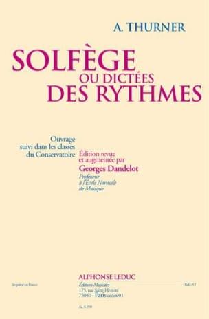 Solfège ou dictées des rythmes A. Thurner Partition laflutedepan