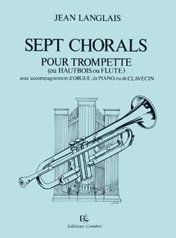 7 Chorals Jean Langlais Partition Flûte traversière - laflutedepan