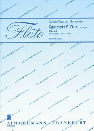 Quartett F-Dur Georg Abraham Schneider Partition laflutedepan