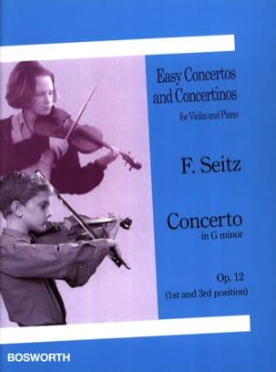 Concerto en Sol Mineur Opus 12 Friedrich Seitz Partition laflutedepan