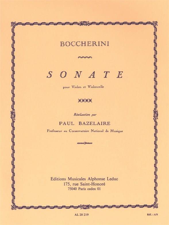 Sonate - BOCCHERINI - Partition - 0 - laflutedepan.com