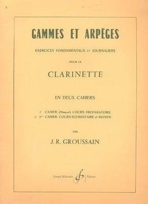 Gammes et Arpèges 2ème Cahier J. R. Groussain Partition laflutedepan