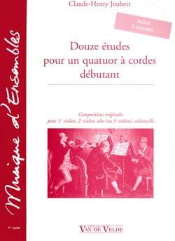 12 Etudes pour un quatuor à cordes débutant laflutedepan