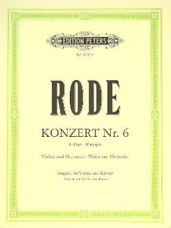 Konzert n° 6 B-Dur Pierre Rode Partition Violon - laflutedepan