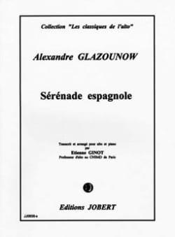 Sérénade espagnole op. 20 Alexandre Glazounov Partition laflutedepan