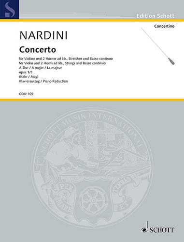 Concerto A-Dur op. 1 n° 1- Violine - Pietro Nardini - laflutedepan.com