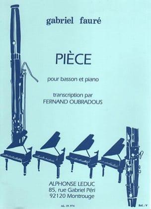 Pièce Fauré Gabriel / Oubradous Fernand Partition laflutedepan
