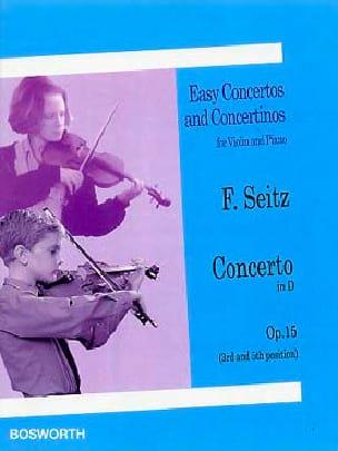 Concerto en Ré Opus 15 Friedrich Seitz Partition Violon - laflutedepan