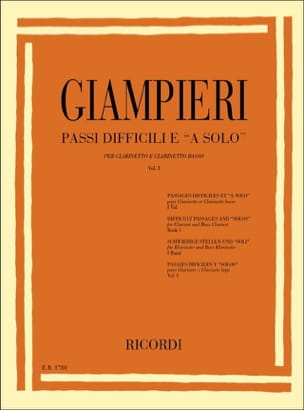 Passi difficili e a solo - Volume 1 Alamiro Giampieri laflutedepan