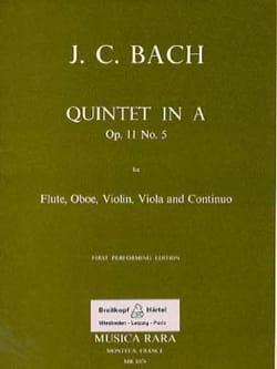 Johann Christian Bach - Quintet In A La M., Op. 11 No. 5 - Flute-Oboe-Violon-Alto-BC - Partition - di-arezzo.co.uk