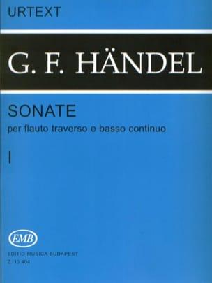 Sonates - Volume 1 - Flauto traverso e bc HAENDEL laflutedepan
