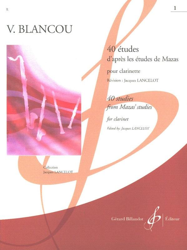 40 Etudes d'après Mazas Vol 1 - Clarinette - laflutedepan.com