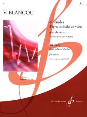 40 Etudes d'après Mazas - Volume 2 - Clarinette laflutedepan