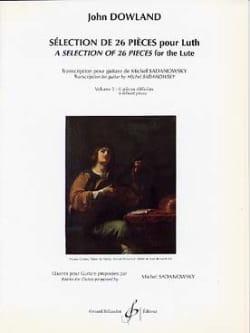 Sélection de 26 pièces pour luth - Volume 3 DOWLAND laflutedepan
