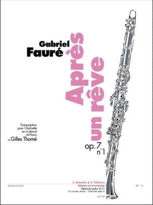 Après un rêve op. 7 n° 1 - Clarinette laflutedepan