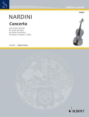 Concerto Violon en mi mineur Pietro Nardini Partition laflutedepan