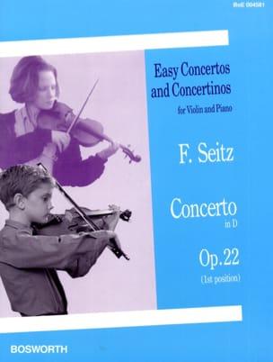 Concerto en Ré Opus 22 Friedrich Seitz Partition Violon - laflutedepan