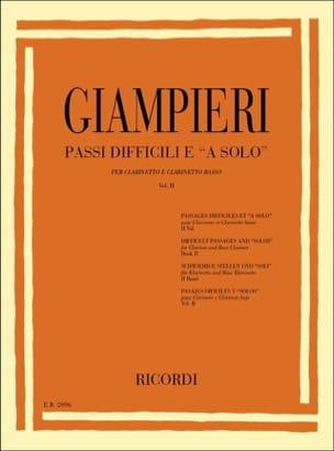Passi difficili e a solo - Volume 2 Alamiro Giampieri laflutedepan