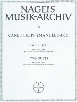 2 Duos - Flöte Violine Carl Philipp Emanuel Bach laflutedepan