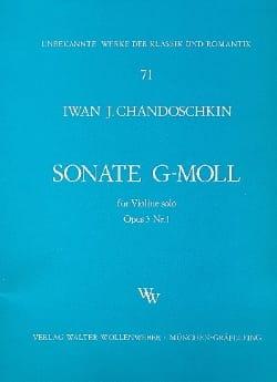 Sonate G-moll op. 3 n° 1 Iwan (Handoshkin) Chandoschkin laflutedepan