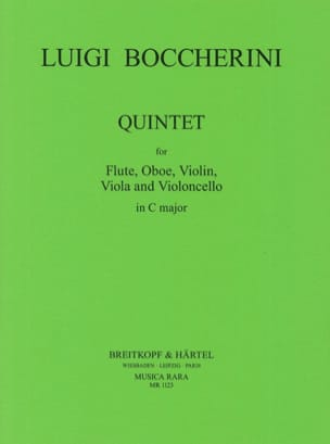 Quintette In C Do M. - Flûte-Hautbois-Violon-Alto-Cello laflutedepan