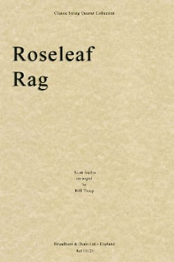 Roseleaf Rag - String quartet JOPLIN Partition Quatuors - laflutedepan