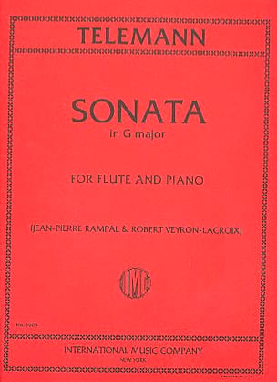 Sonata in G major - Flute piano TELEMANN Partition laflutedepan
